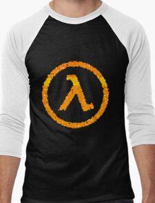 Half Life Lambda logo Men's Baseball ¾ T-Shirt