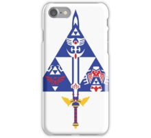 Sword and Shield (Blue) iPhone Case/Skin