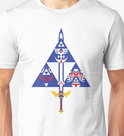 Sword and Shield (Blue) Unisex T-Shirt