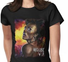 Masquerade Art: Red List - VII: Francisca Santos dos Rodrigues Womens Fitted T-Shirt