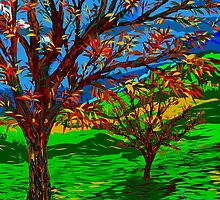 Autumn Tree Art by Karen Harding