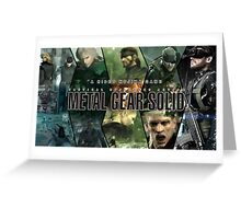 A Hideo Kojima Game - Metal Gear Greeting Card