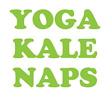 yoga kale naps Photographic Print