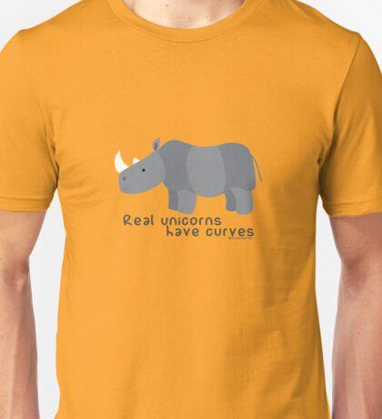 Unicorn curves Unisex T-Shirt