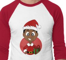 Christmas boy cartoon Men's Baseball ¾ T-Shirt