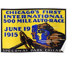 1915 Chicago Auto Race Poster