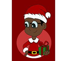 Christmas boy cartoon Photographic Print
