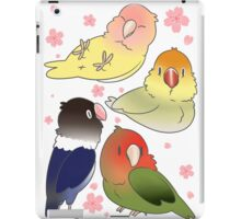 Lovebirds with cherry blossoms iPad Case/Skin