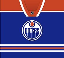 Edmonton Oilers Home Jersey Throw Pillow/Tote Bag by Russ Jericho