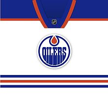 Edmonton Oilers Away Jersey Throw Pillow/Tote Bag by Russ Jericho