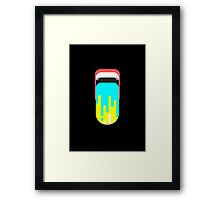 Dripping paint mouth Framed Print