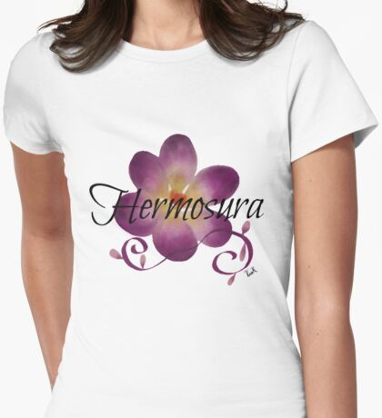 Hermosura(Loveliness)flower  Womens Fitted T-Shirt
