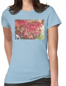 Red Maple Leaves Womens Fitted T-Shirt