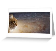 Cat in the Andromeda galaxy Greeting Card