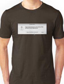 Apple - Hackintosh EULA Dialog Box Unisex T-Shirt