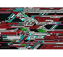 Halo woodcut Photographic Print