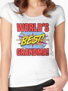 World's Best Grandma Women's Fitted Scoop T-Shirt