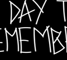 A Day to remember Black Bad Vibrations Sticker