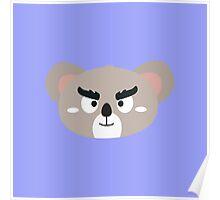 Angry koala head Poster