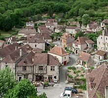 Saint Cirq Lapopie - Hill top village - France by DPalmer
