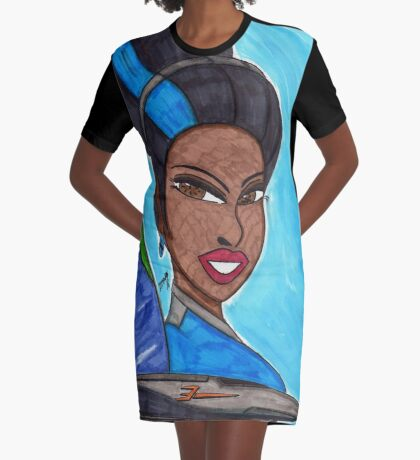 Gaia Graphic T-Shirt Dress