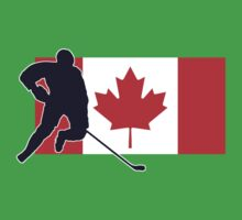 Canada - Canadian National Flag Hockey T-Shirt Top Kids Clothes