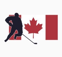 Canada - Canadian National Flag Hockey T-Shirt Top by deanworld