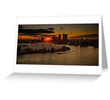 Sunset Over the Dome Greeting Card