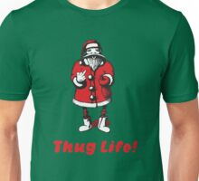 Thug Life - Bad Santa Claus shows obscene sign Unisex T-Shirt