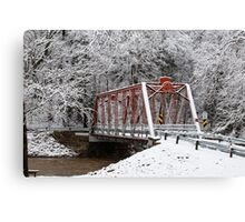 White out but red prevails Canvas Print