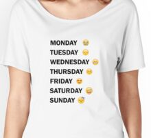 Emoticon Days Women's Relaxed Fit T-Shirt
