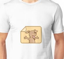 Dog Arms Out Label Cartoon Unisex T-Shirt