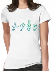 """ASL """"Love"""" Watercolour Womens Fitted T-Shirt"""