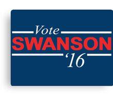 Vote Ron Swanson 2016 Canvas Print