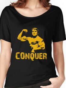 Arnold Schwarzenegger Gym Conquer Women's Relaxed Fit T-Shirt
