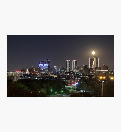 Supermoon Over Downtown Fort Worth Photographic Print