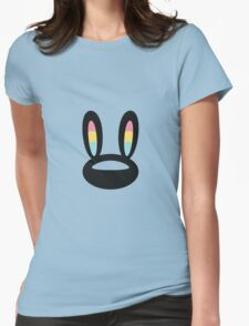 Pogo Space Bunny Black Womens Fitted T-Shirt