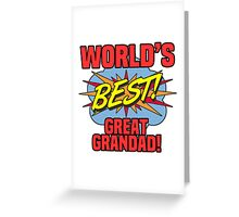 World's Best Great Grandad Greeting Card