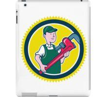 Plumber Monkey Wrench Rosette Cartoon iPad Case/Skin