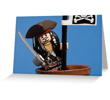 Lego Captain Jack Sparrow Greeting Card