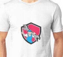 Plumber Thumbs Up Monkey Wrench Cartoon Unisex T-Shirt