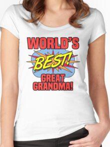 World's Best Great Grandma Women's Fitted Scoop T-Shirt