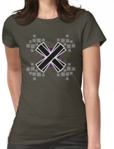 Emphasized Black 'X' Womens Fitted T-Shirt