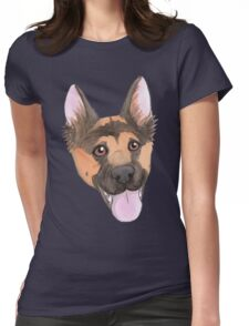 Happy German Shepherd Womens Fitted T-Shirt