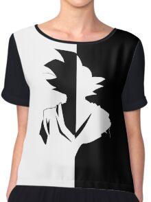 DBZ / Dragonball Super - Black/Goku Graphic Tee Chiffon Top