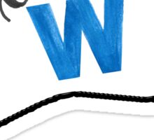 Fly the W flag Sticker