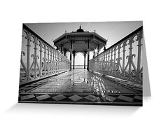 Band stand - Black and White Greeting Card