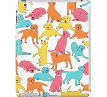 Colourful Labrador Pattern iPad Case/Skin