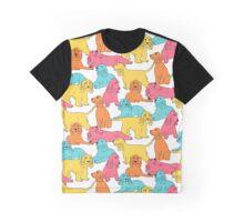 Cocker Spaniel Pattern Graphic T-Shirt