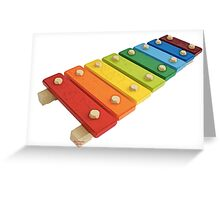 Baby Xylophone Greeting Card